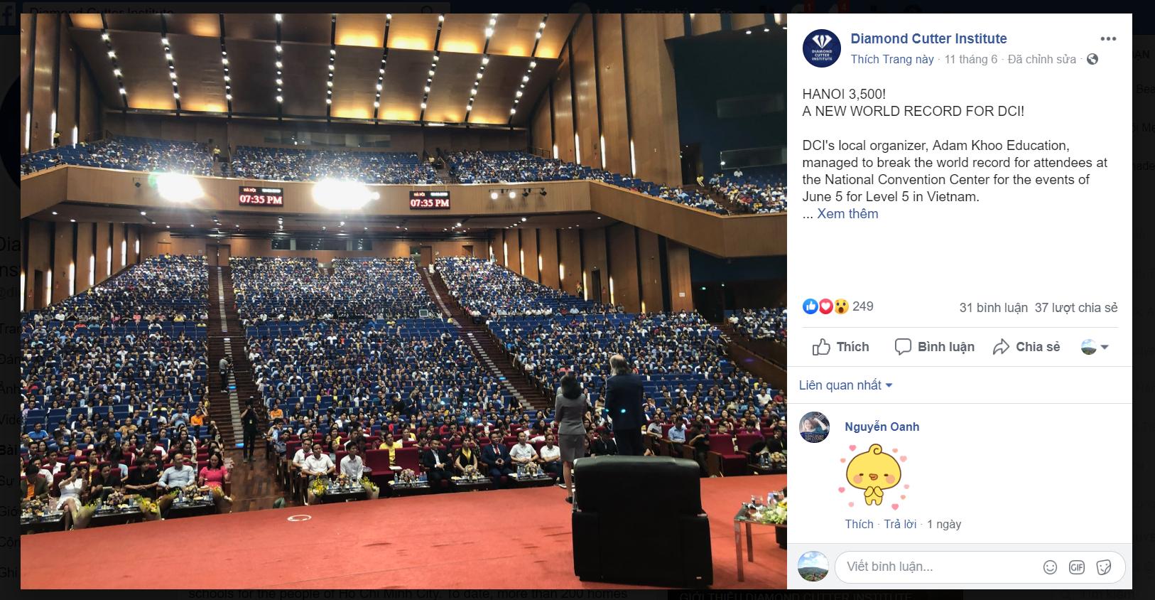 Năng Đoạn Kim Cương Việt Nam chính thức phá vỡ kỷ lục Cộng đồng Năng Đoạn Kim Cương Toàn Cầu