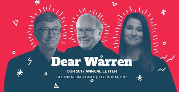 Bức thư tỷ đô giải cứu thế giới gửi Warren Buffett của vợ chồng Bill Gates
